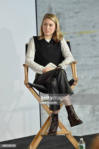 Teen Vogue Senior Market and Accessories Editor speaks during Teen Vogue's 10th Annual Fashion University on March 14 2015 in New York City