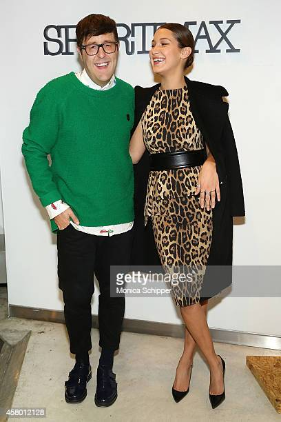 Teen Vogue Style Features Director Andrew Bevan and model Bella Hadid attend Sportmax and Teen Vogue Celebrate The Fall/Winter 2014 Collection at...