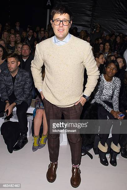 Teen Vogue Style Features Director Andrew Bevan attends the Mara Hoffman show during MercedesBenz Fashion Week Fall 2015 at The Salon at Lincoln...