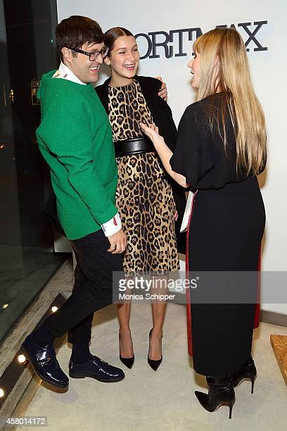Teen Vogue Style Features Director Andrew Bevan model Bella Hadid and Teen Vogue EditorInChief Amy Astley attends Sportmax and Teen Vogue Celebrate...