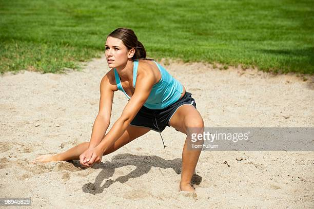 Teen Volleyball Player in Action