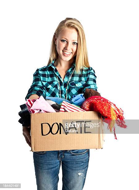Teen with Donation Box