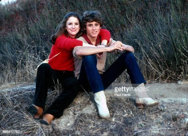 Teenage actors Rad Daly and Melissa Gilbert at a press photo call, Malibu, California, 12th August 1980.
