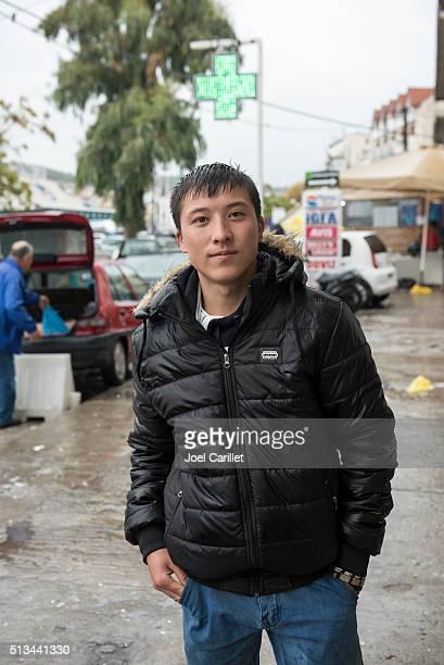 Teenage Afghan migrant traveling alone