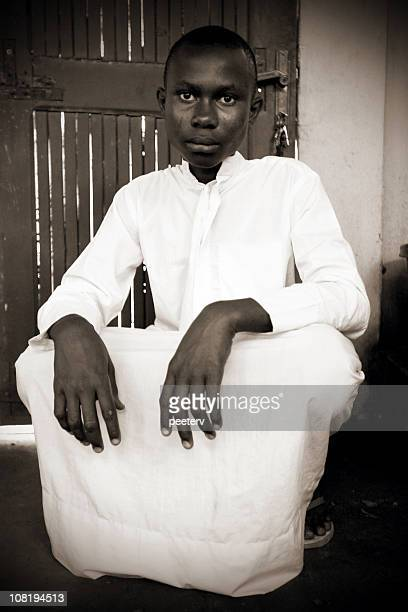 Teenage African Boy in Traditional Dress