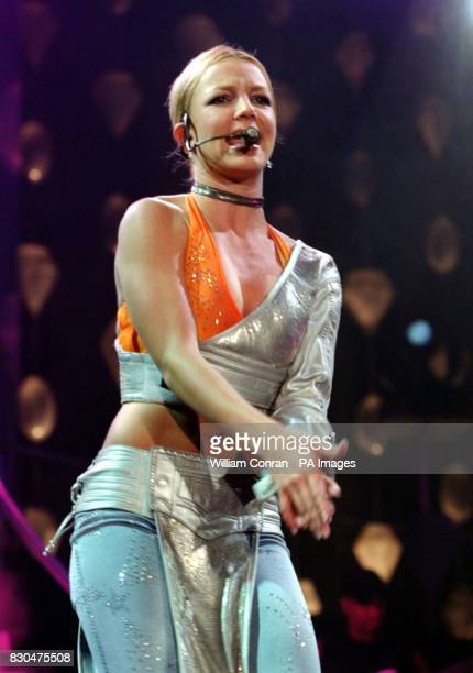Teenage American pop singer Britney Spears performing on stage during her UK concert at Wembley Arena in London * 3/11/2000 Britney Spears who went...
