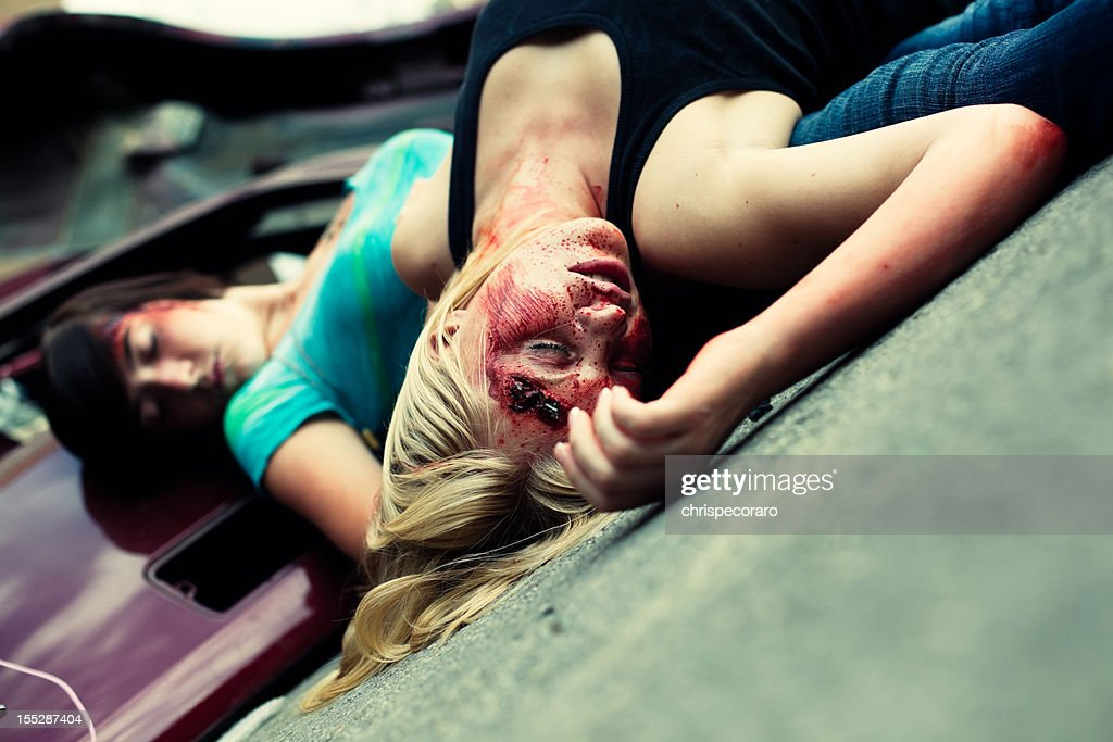 Teenage Automotive Accident Victims : Stock Photo