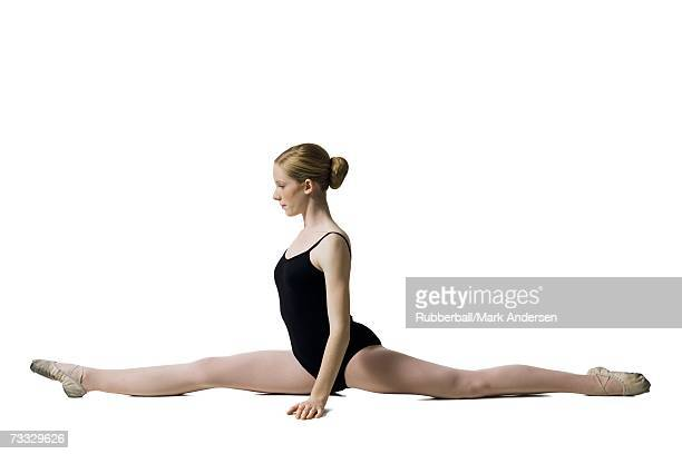 Teenage ballerina in leotard