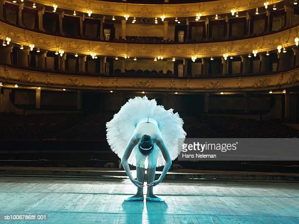 Teenage ballerina (14-15) on stage