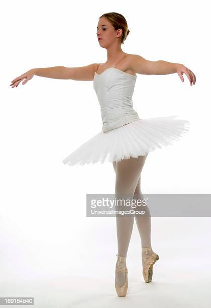 Teenage ballerina wearing tutu USA