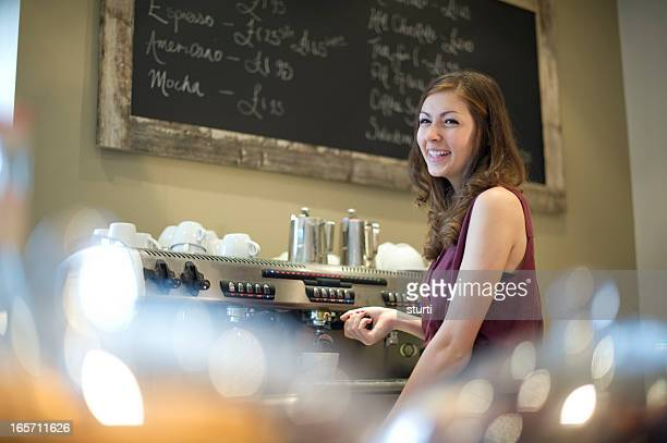 teenage barista