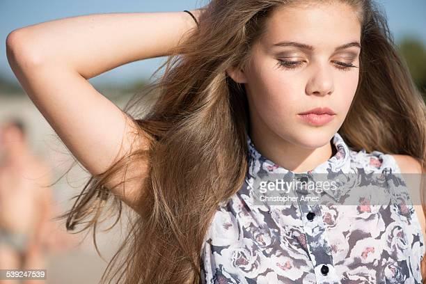 Teenage Beauty Outdoors Summer Portrait