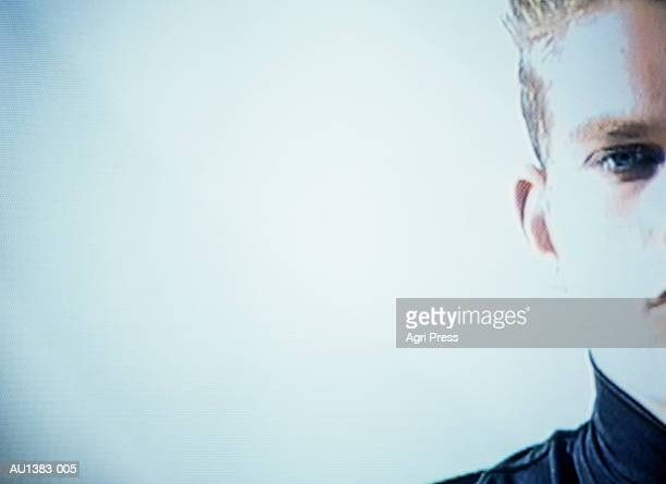 teenage boy (17-19 years) close-up (video still) - 16 17 years stock pictures, royalty-free photos & images