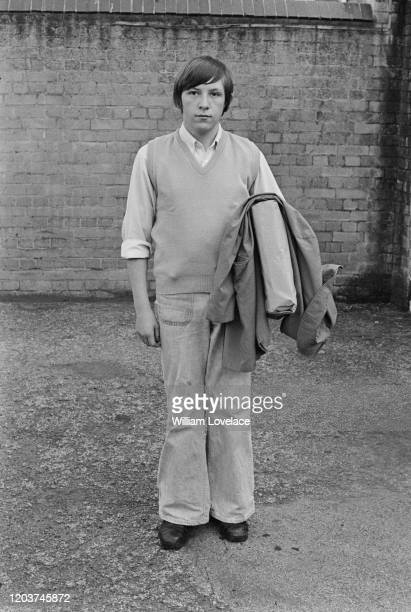 Teenage boy dressed as the Kings Cross bomber after attacks by the Provisional IRA at King's Cross station and Euston station in London, England,...