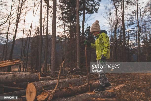Teenage boy enjoying his hiking adventure