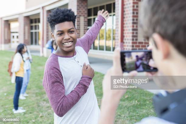 Teenage boy hosts video tour of High School