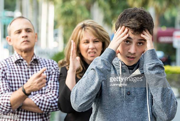 teenage boy in troubles - mother scolding stock pictures, royalty-free photos & images