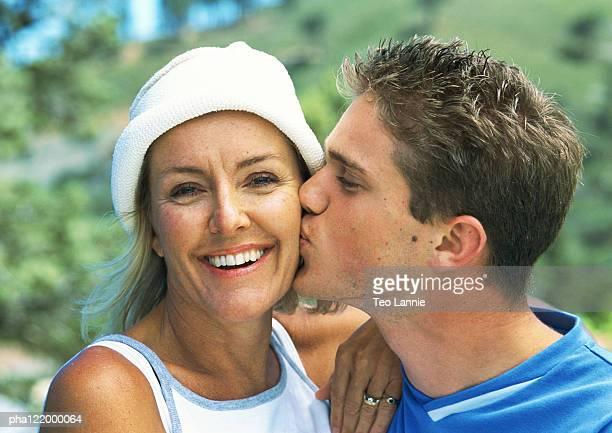 mature mom and boy