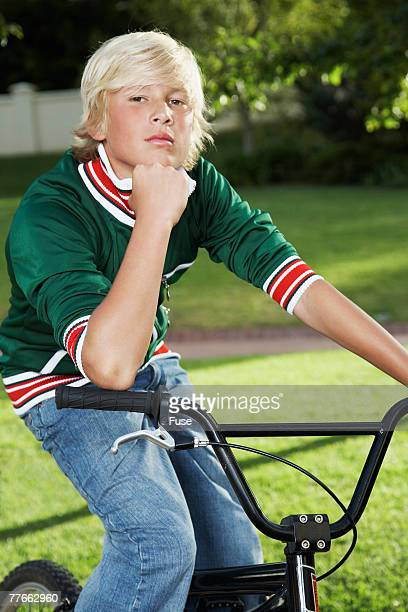 Teenage Boy on a Bicycle