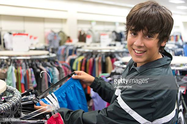 Teenager boy shopping