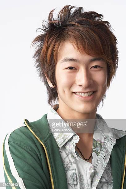 Teenage boy smiling, portrait