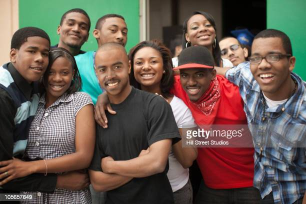 teenage boys and girls smiling - gardena california stock pictures, royalty-free photos & images
