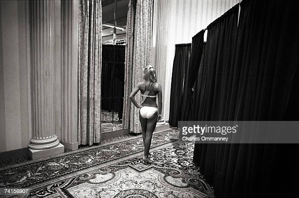 Teenage contestants in the annual Miss Teen Texas competition gather November 22 2002 in Houston Texas Beauty contests offer girls a timehonored...