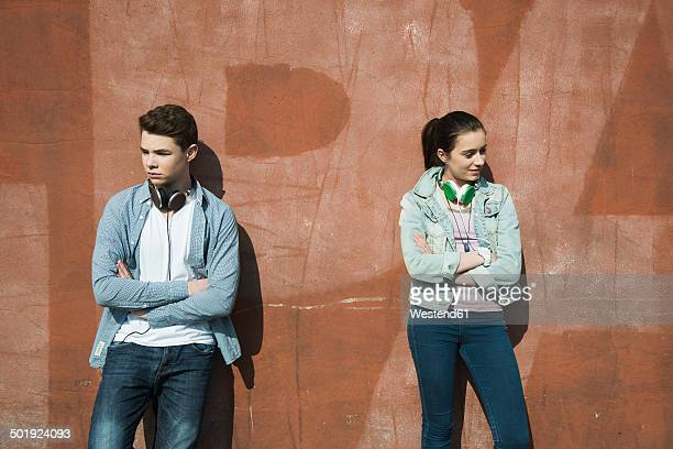 teenage couple in trouble - boyfriend stock pictures, royalty-free photos & images