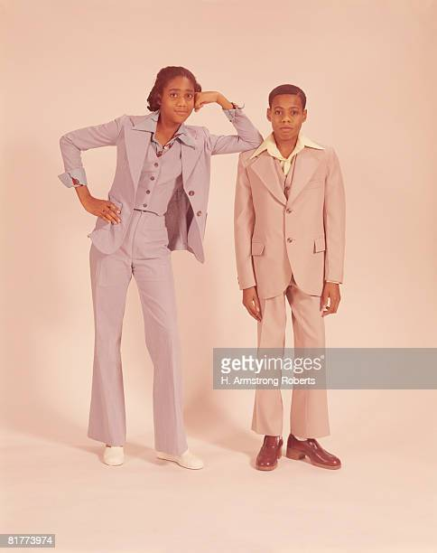 teenage couple. (photo by h. armstrong roberts/retrofile/getty images) - african american 70s fashion stock photos and pictures
