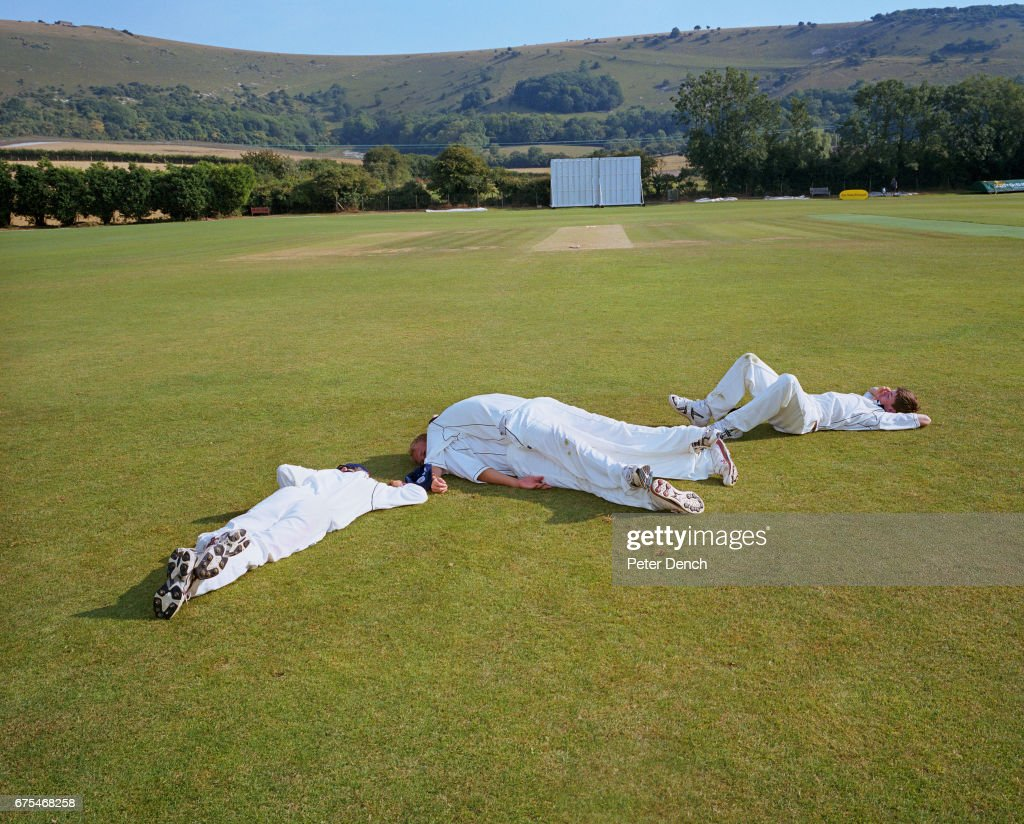 Bunberry Festival 2020.Teenage Cricket Players At The 2006 Bunbury Festival Relax