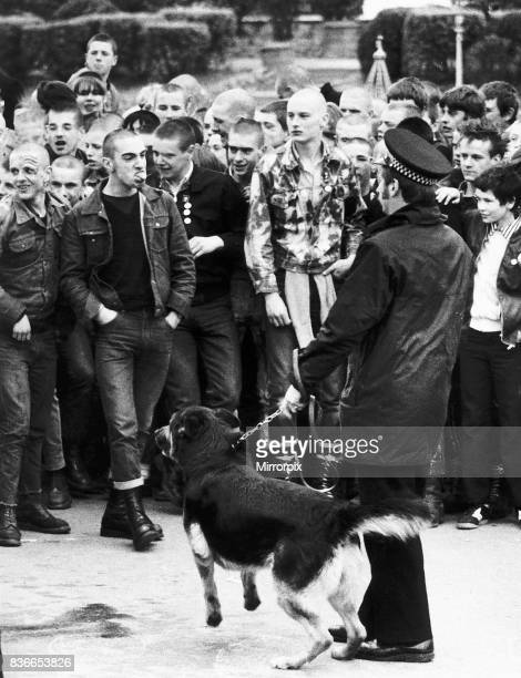 Teenage Disturbances Skinheads on the rampage in Southend beford being arrested and sent back to London 13th April 1982