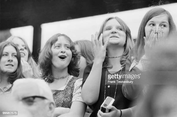 Teenage fans at the Championships Wimbledon London 29th June 1973