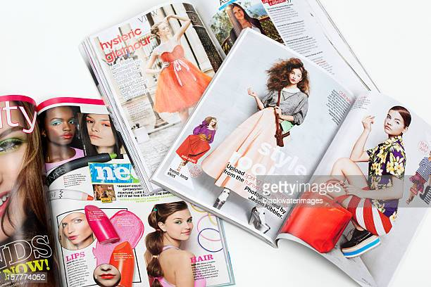 teenage fashion magazines - publication stock pictures, royalty-free photos & images