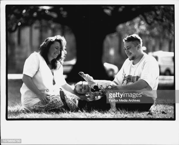 Teenage Fathers Darren Stafford with wife Suzanne amp Baby Boy Justin 13mths July 13 1993
