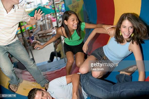 Teenage Friends in Fun House