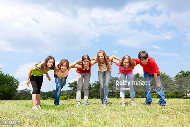 Teenage Friends Outdoors