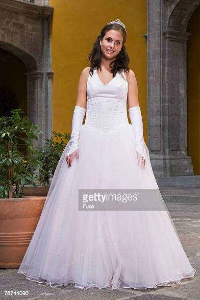 teenage girl at coming of age party - quinceanera stock pictures, royalty-free photos & images
