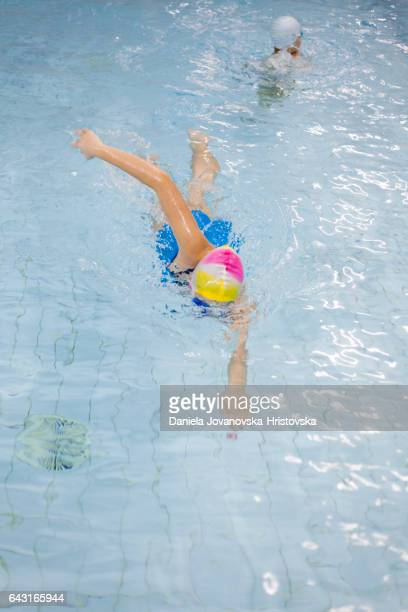 Teenage girl at swimming class