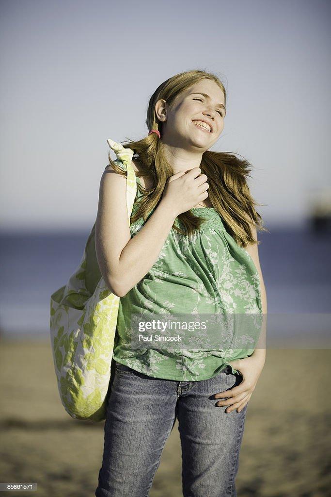 Teenage Girl At The Beach : Stock-Foto