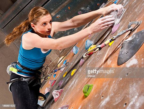 Teenage Girl Climbing
