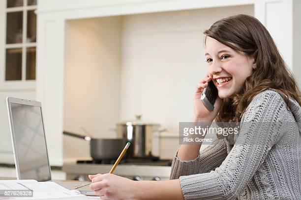 Teenage Girl Doing Homework