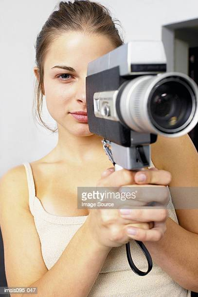 teenage girl filming - film director stock pictures, royalty-free photos & images