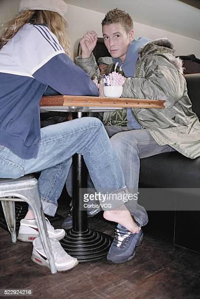 Teenage Girl Flirting with Boyfriend