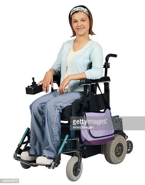 Teenage Girl in a Wheelchair