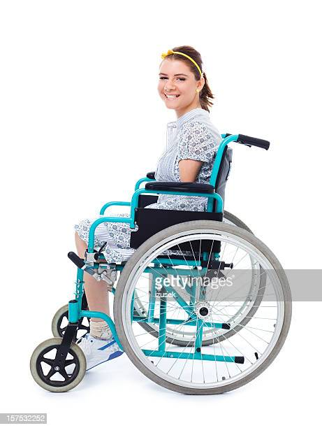 Teenage Girl In A Wheelchair, Studio Portrait