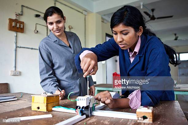 A teenage girl in an electrical class at the Jyoti Vocational Training and Rehabilitation Centre in Nepal The centre takes in disadvantaged children...