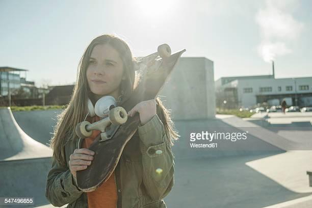 Teenage girl in skatepark