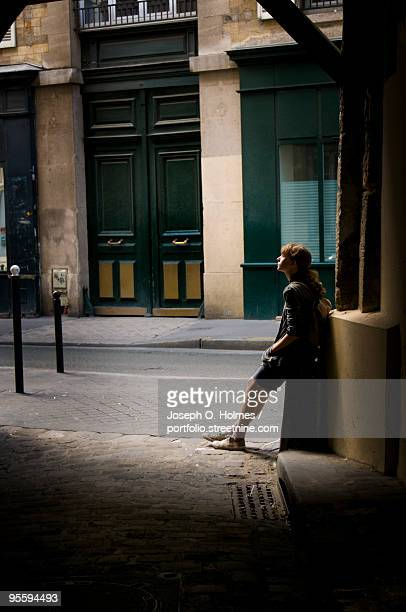 a teenage girl in the passage, paris - joseph o. holmes stock pictures, royalty-free photos & images