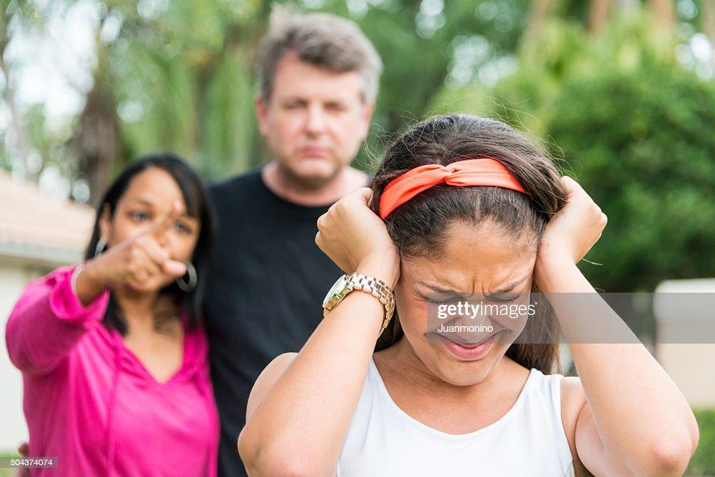 Teenage girl in trouble : Stock Photo