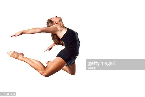 teenage girl jumping - dancing silhouette stock pictures, royalty-free photos & images